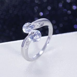 Jewelry - UNIQUE CZ Rhodium Ring